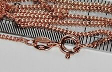 9ct Rose Gold on Sterling Silver 1.4mm Curb Chain - 18 inch Necklace - 2.9 grams
