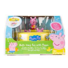 Peppa Pig Set de Baño con 2 Figuras Cesta para Juguetes con Ventosa Peppa Pig
