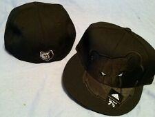 Memphis Grizzlies Black XL Logo Flat Brim Fitted Size 7 1/2 NBA Cap By Adidas