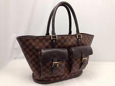 Authentic Louis Vuitton Manosque Damier Ebene Tote Bag PVC Brown 6C220450#