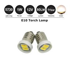 2x E10 Screw Base 5730 LED Indicator Bulb 12V Lionel Lamp Light Warm White 3500k