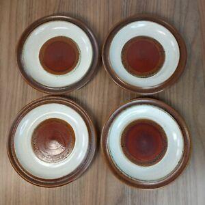 """4 x Vintage Denby Potters Wheel 6.5"""" Tea or Side Plates"""