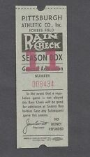 1962 Pittsburgh Pirates unused baseball ticket raincheck