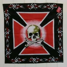 Skull and Cross Bone Bandana - Head Scarf/Bikers Scarf