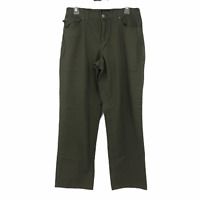 Polo Ralph Lauren Womens Olive Green Mid Rise Straight Leg Casual Pants Size 8