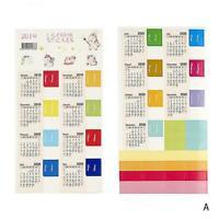 2 Sheet 2019-2020 Calendar Stickers Cartoon Diary Scrapbooking Decor Album K8H9