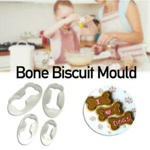 5 Piece Dog Bone Treat Cookie Cutters Set NEW! Puppy Y6D5