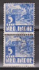 Nederlands Indie 251 pair used Karbouw 1938 Netherlands Indies watermark