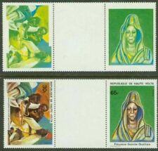 Burkina Faso 1980 30fr & 65fr PAIR, red & black omitted
