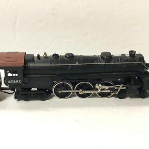 Mantua Die Cast Ho Scale Model Trains ATSF Santa Fe Steam Locomotive Engine 3461