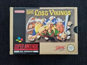 THE LOST VIKINGS - AUS PAL CIB - EXCELLENT COND - SNES Super Nintendo