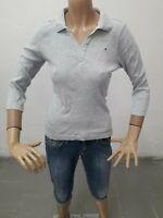 Maglia TOMMY HILFIGER Donna T-shirt woman Polo Femme Taglia Size M Cotone 8623