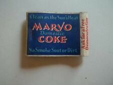 Matchbook Cover Marvo Domestic Coke The Blue Line Fuel Co Phone LA 1101  #267