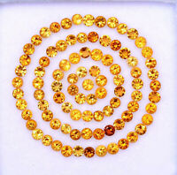 NATURAL CITRINE 2.5 MM ROUND CUT YELLOW FACETED LOOSE CALIBRATED GEMSTONE LOT