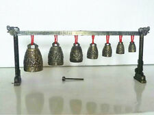 Meditation Gong with 7 Ornate Bell with Dragon Design Chinese Musical Instrument