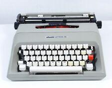 Vtg OLIVETTI Gray Lettera 35i Portable Typewriter 1970s