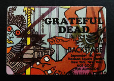 Grateful Dead Backstage Pass Puzzle Piece Rainforest People New York 9/18/1991