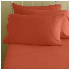 LUXURIES QUEEN SIZE ORANGE SOLID SHEET SET 800 TC 100% EGYPTIAN COTTON