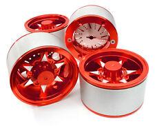 C26619RED Integy 2.2 Size Billet Alloy 6V Spoke Wheel(4)High Mass for Crawler