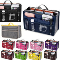 13 Pocket Bag in Bag Makeup Travel Insert Handbag Tote Organizer Purse Pouch SF