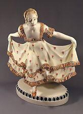 Antique Austrian Johanna Meier-Michel Dancing Lady Sculpture Signed by Author
