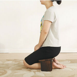 Zen Folding Meditation Stool Tung Wooden Bench Yoga Chair Cushion Kneeling Pad