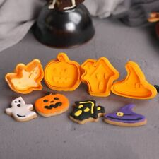 4pcs Halloween Pumpkin Ghost Theme Plastic Cookie Cutter baking Decor Tools~