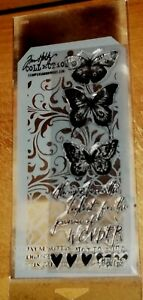 HOLTZ STAMPERS ANONYMOUS CLEAR STAMPS BUTTERFLIES ~ STENCIL  wks CTMH blks