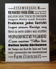 Dekofliese Wandbild Bildfliese Essensregeln ... (069DP) Geschenkidee Fliese