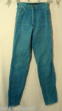 WRANGLER Western Jeans 5/6x33 SILVER LAKE Teal Blue Classic Cowgirl Rodeo Ranch
