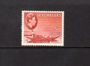 SEYCHELLES 1938 5$ RED  CHALKY PAPER LMM