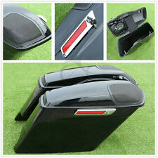 Stretched Extended Saddlebags + Speaker Grill For Harley Davidson Touring 14-19