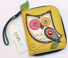 Charming Chala Hoot Hoot Owl Purse Wallet Credit Cards Coin Wristlet