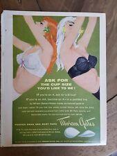 1959 Miriam Gates white black padded bra redhead blond vintage ad