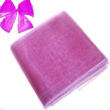 Purple Organza Chair Bows Pack of 6 - X80054
