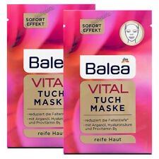 Balea Cloth Mask Vital (Mature Skin, Anti-Aging, Anti-Wrinkle, Hyaluron) 2 pcs