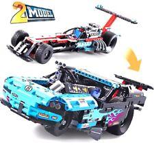 Decool 3367 647Pcs 2 IN 1 King Steerer Drag Racer car Building Block toy set Wit