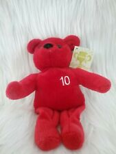 Plush Beanie Style NUTRISYSTEM RED BEAR, CONGRATS LOST 10 LBS, with Tags
