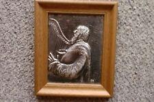 """Reliefbild """"Der Lautenspieler"""" (Original) 25 x21 cm"""