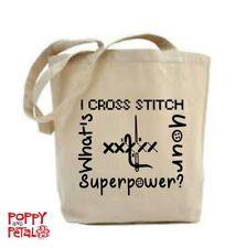 CROSS Stitch Tote Bag, mi Cross Stitch, qual è il tuo superpotere?