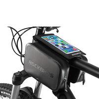"RockBros Cycling Waterproof Frame Tube Bag 6.0"" Touch Screen Phone Bag Black"