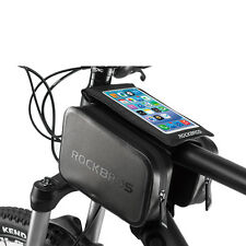 "RockBros Cycling Waterproof Frame Tube Bag 6.0"" Touch Screen Phone Bag Black"