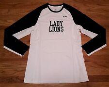 New Nike Women's M Penn State Lady Lions Elite Shooter L/S Basketball Shirt Navy