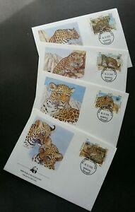 [SJ] Afghanistan WWF Leopard 1985 Big Cat Cheetah Wildlife (stamp FDC)