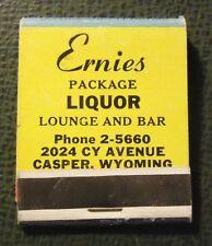 Matchbook - Ernie's Liquor Store Casper WY FULL