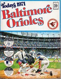 1971 Baltimore Orioles Baseball Sticker Album, Brooks Robinson, Jim Palmer ~ VG