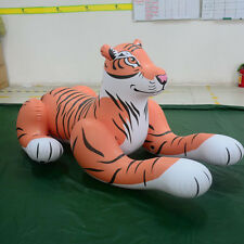 Strong and Mighty  Yellow Inflatable Tiger Size 6.56ft Long