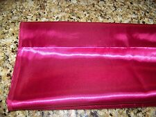 "Lot of 45"" Wide Silky Fabric 4 YDS 12"" LT Wt Burgundy Shiny Satin Material"