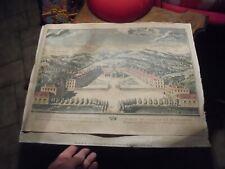 Arbuissonas Retirage ancienne Gravure Elevation Perspective du Chapitre Salles