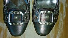 Nº 41 CAFe NOIR preciosos zapatos joya PIEL con hebilla plateada taconmujer